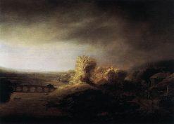 Landscape with a Seven-Arched Bridge | Govaert Flinck | Oil Painting