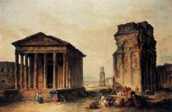 Ruins at Nimes   Hubert Robert   Oil Painting