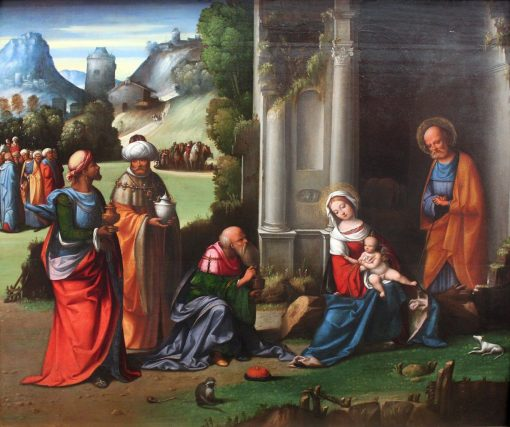 Adoration of he Magi   Il Garofalo   Oil Painting