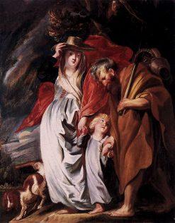 Return of the Holy Family from Egypt   Jacob Jordaens   Oil Painting