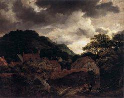 Village at the Wood's Edge | Jacob van Ruisdael | Oil Painting