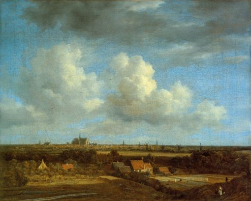 View of Haalem from the North-West   Jacob van Ruisdael   Oil Painting
