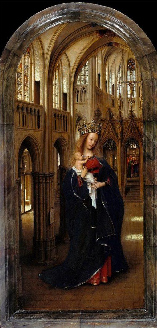 Madonna in the Church   Jan van Eyck   Oil Painting