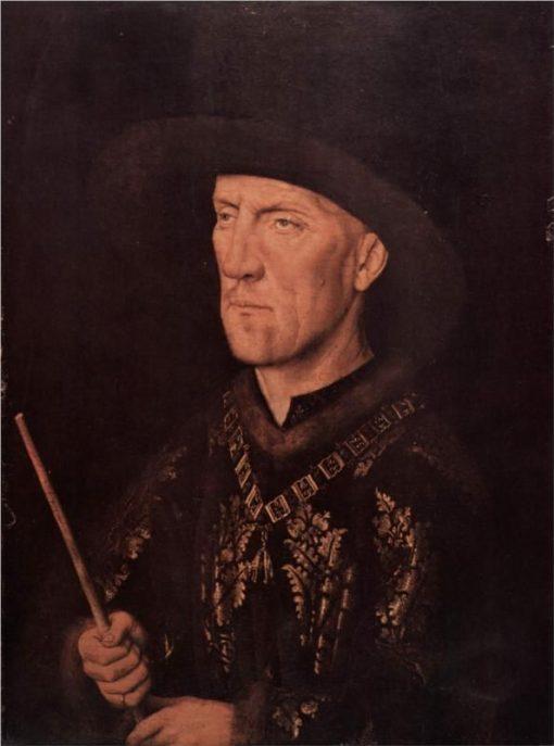 Portrait of Baudouin de Lannoy   Jan van Eyck   Oil Painting
