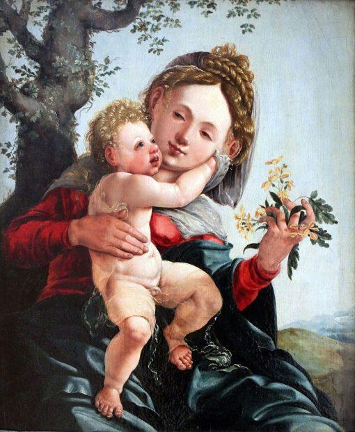 Madonna with Field Flowers | Jan van Scorel | Oil Painting