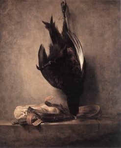 Still Life with Dead Pheasant and Hunting Bag   Jean Baptiste Simeon Chardin   Oil Painting