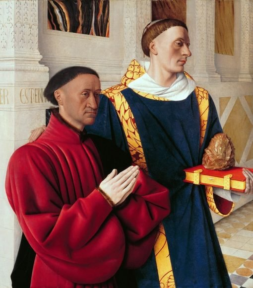 Melun Diptych ~ Etienne Chevalier with Stephanus | Jean Fouquet | Oil Painting