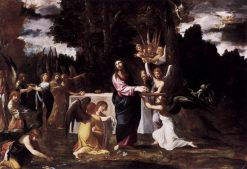 Christ Served by Angels in the Wilderness | Lodovico Carracci | Oil Painting