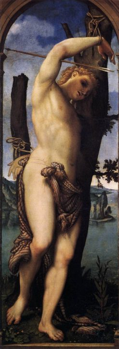 Saint Sebastian   Lorenzo Lotto   Oil Painting