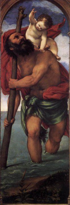 Saint Christopher   Lorenzo Lotto   Oil Painting