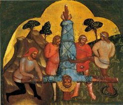The Crucifixion of Saint Peter | Lorenzo Veneziano | Oil Painting
