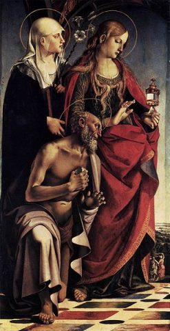 Saint Augustine Alterpiece (left wing) | Luca Signorelli | Oil Painting