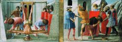 The Crucifixion of Saint Peter and Martyrdom of Saint John the Baptist (from the Pisa Altarpiece) | Masaccio | Oil Painting