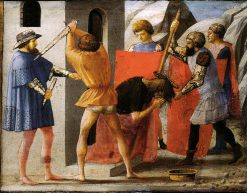 The Martyrdom of Saint John the Baptist (predella from the Pisa Altarpiece) | Masaccio | Oil Painting