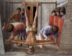 The Crucifixion of Saint Peter (predella from the Pisa Altarpiece) | Masaccio | Oil Painting