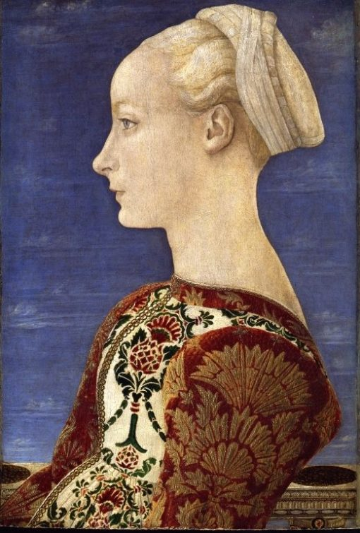 Portrait of a Young Woman   Piero Pollaiuolo   Oil Painting