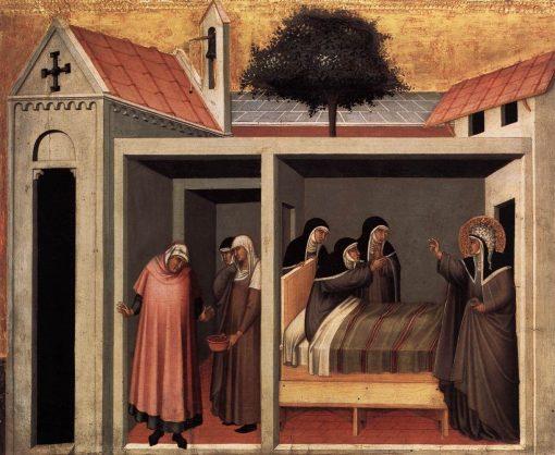 Beata Umilta Heals a Sick Nun   Pietro Lorenzetti   Oil Painting