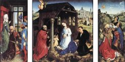 The Middleburg Altar (Reredos)(also known as Altar Bladelin) | Rogier van der Weyden | Oil Painting