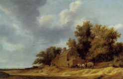 Landscape with Guest House | Salomon van Ruysdael | Oil Painting