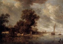 River Landscape at Arnheim | Salomon van Ruysdael | Oil Painting