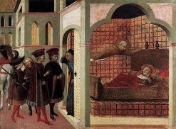 The Blessed Raniero of Borgo San Seplolcro Appearing to a Cardinal in a Dream | Sassetta | Oil Painting