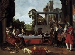 Banquet in the Open Air | Willem Buytewech | Oil Painting