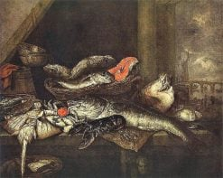 Still Life with Fishes | Abraham van Beyeren | Oil Painting
