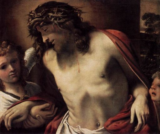 Christ with the Crown of Thorns Supported by Angels | Annibale Carracci | Oil Painting