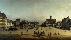 The Neustadter Market in Dresden | Bernardo Bellotto | Oil Painting
