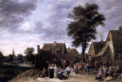 The Kermess at the Half Moon Inn | David Teniers II | Oil Painting