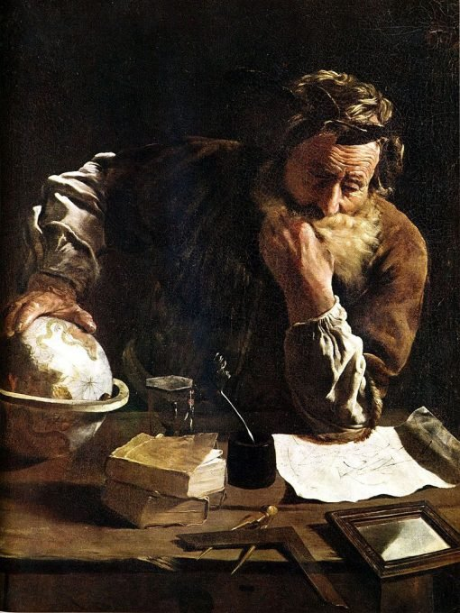 Archimedes Thoughtful(also known as Portrait of a Scholar) | Domenico Fetti | Oil Painting