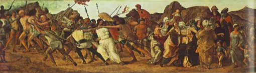 The Road to Calvary (Predella from the Stories of Christ) | Ercole de' Roberti | Oil Painting