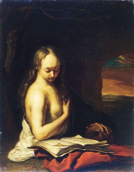 Mary Magdalen Penitent   Frans van Mieris the Elder   Oil Painting