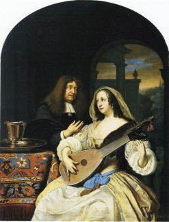 Portrait of Francois de le Boe Sylvius with His Wife | Frans van Mieris the Elder | Oil Painting