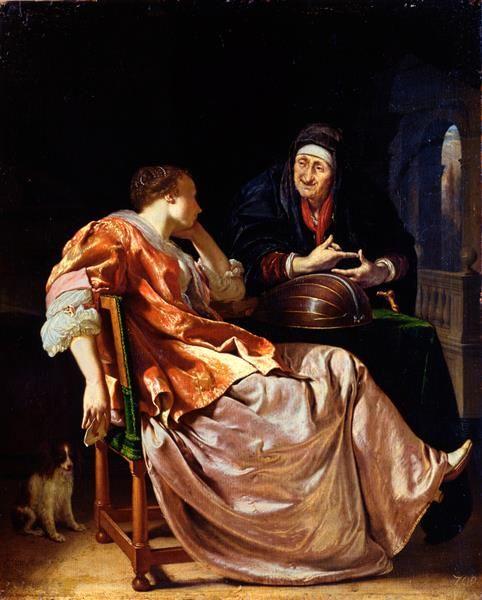 Die Liebesbotschaft (The Love Letter)   Frans van Mieris the Elder   Oil Painting