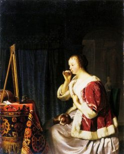 Young Lady at Her Dressing-Table | Frans van Mieris the Elder | Oil Painting