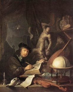 A Painter in His Studio | Gerrit Dou | Oil Painting