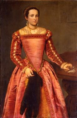 Lady in a Red Dress | Giovanni Battista Moroni | Oil Painting