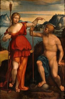 Poseidon and Athena | Il Garofalo | Oil Painting