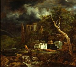 The Jewish Cemetery | Jacob van Ruisdael | Oil Painting