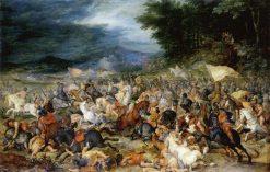 The Battle of Hebrews against Amalakites   Jan Brueghel the Elder   Oil Painting