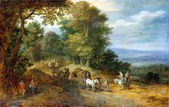 Travelers in the Countryside | Jan Brueghel the Elder | Oil Painting