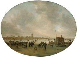 Winter on the River | Jan van Goyen | Oil Painting