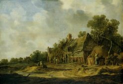 Peasant Cottages next to a Well | Jan van Goyen | Oil Painting