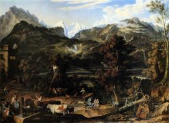 Mountainous Landscape near Bern | Joseph Anton Koch | Oil Painting