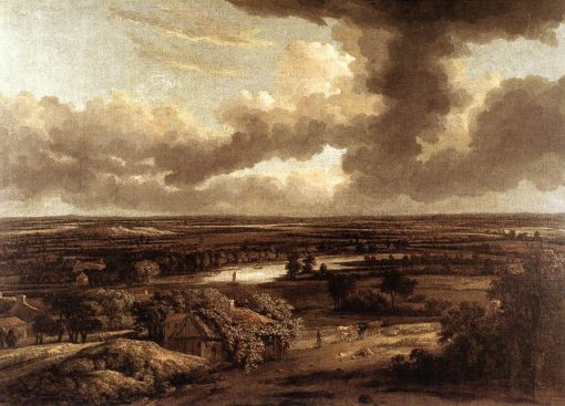 Dutch Landscape Viewed from the Dunes | Philips Koninck | Oil Painting