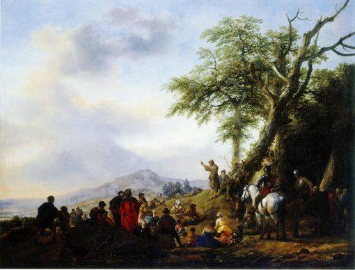 Saint John the Baptist   Philips Wouwerman   Oil Painting
