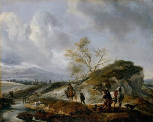 A Rider Hugs a Girl | Philips Wouwerman | Oil Painting