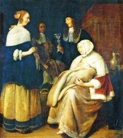 The Maternity Visit | Quiringh van Brekelenkam | Oil Painting