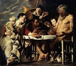 The Satyr and the Peasant   Jacob Jordaens   Oil Painting